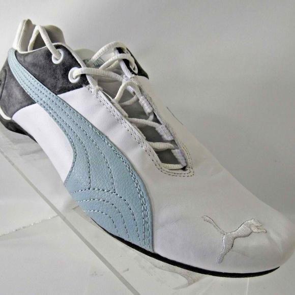 plus récent 8e10d 9f87e Puma Future Cat Size 7 White Blue Shoes For Women